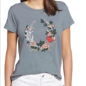 Lucky Brand Embroidered Lucky T-shirt NWT